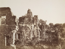 Old Fort of Bassein. Ruins of the interior of St John's Cathedral